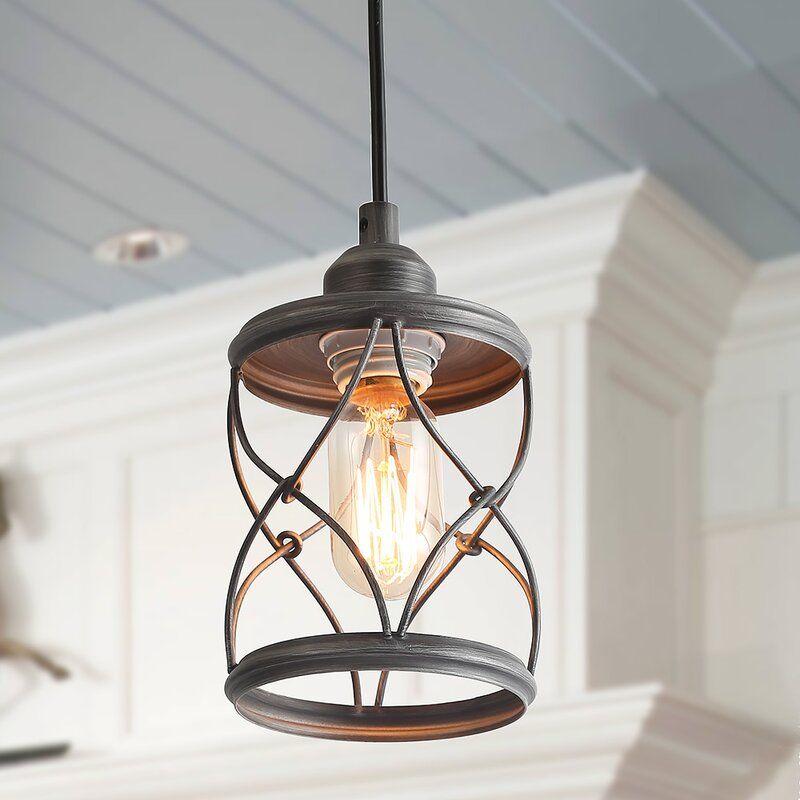 Renn 1 Light Single Cylinder Chandelier Farmhouse Pendant Lighting Rustic Pendant Lighting Pendant Lighting