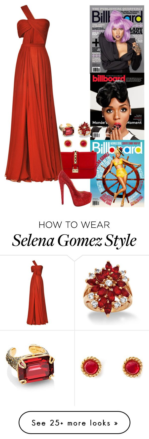 """'Billboard' US Magazine - June 2014: Front Cover."" by foreverforbiddenromancefashion on Polyvore featuring Prabal Gurung, Christian Louboutin, Henri Bendel, Palm Beach Jewelry, Chanel, women's clothing, women, female, woman and misses"