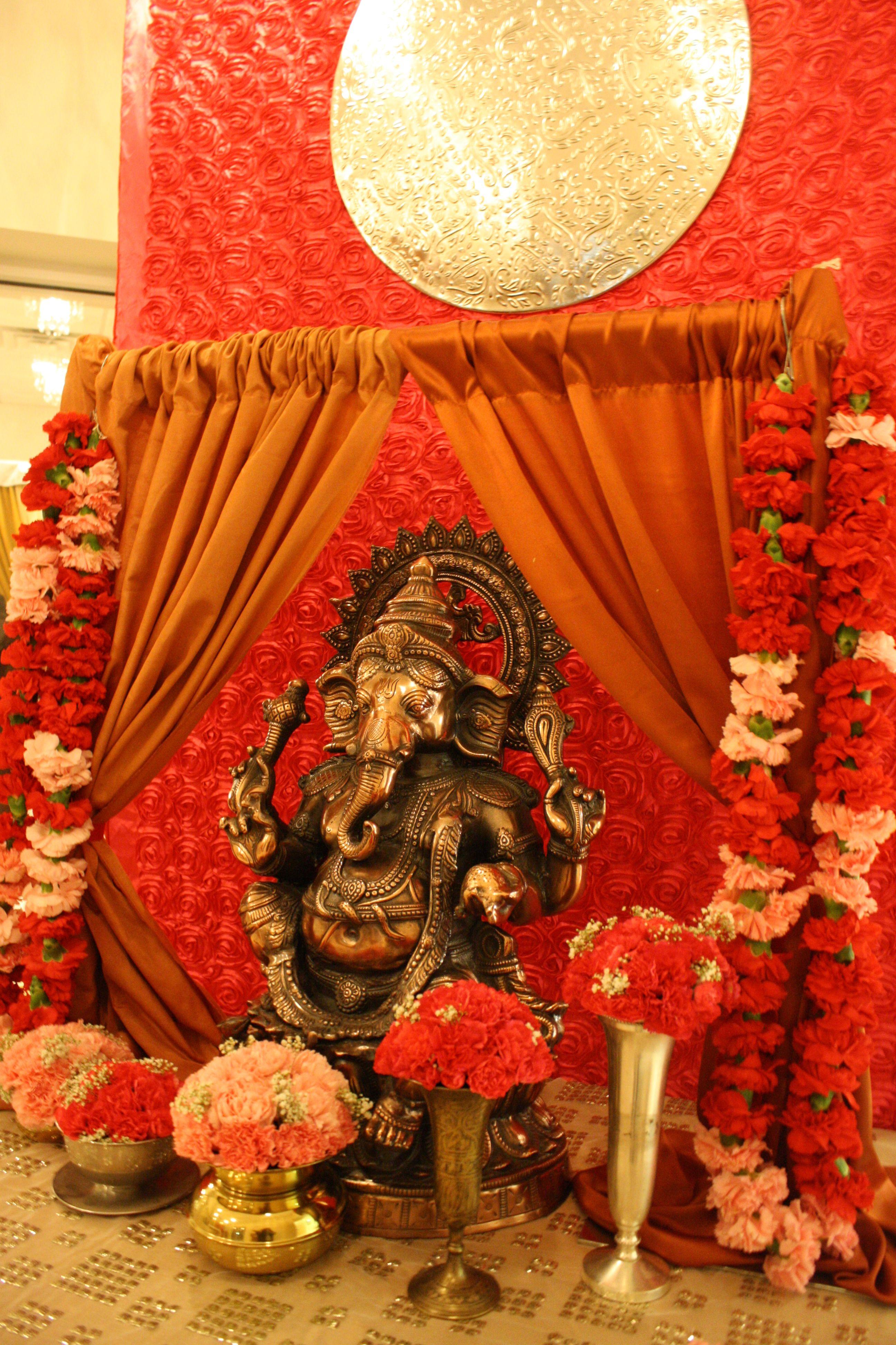 Ganesh welcome table Indian weddings wwwlaxstatescom Indian