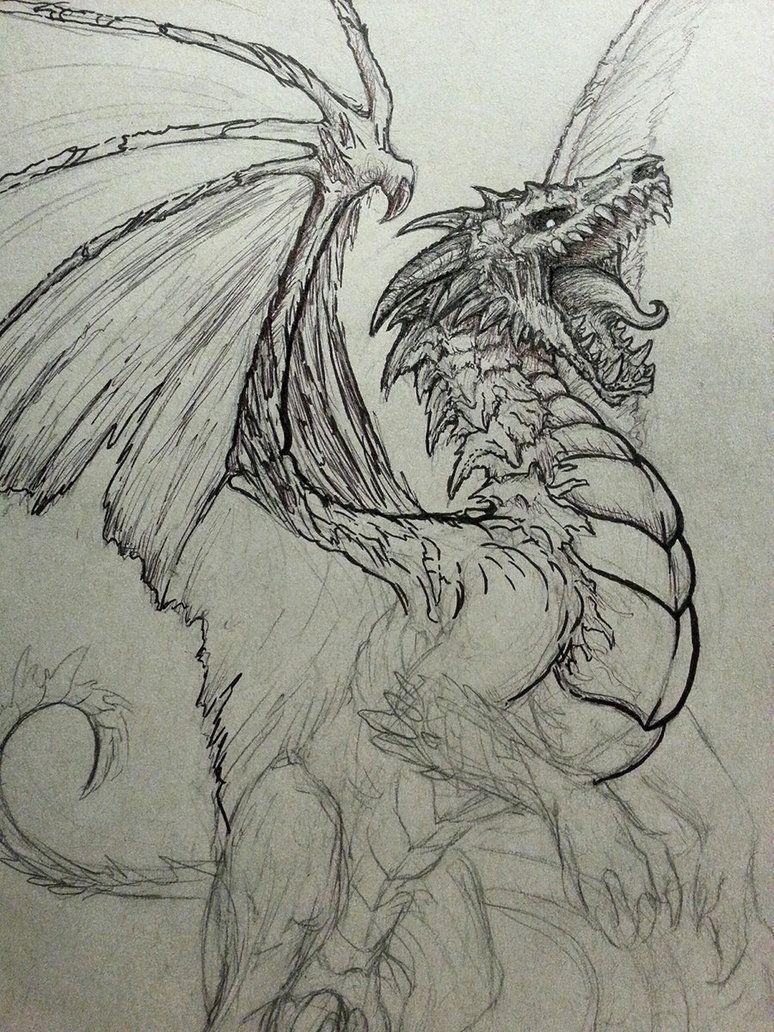 360bccfad97e54867a661da569ddab48 » Cool Dragon Drawing