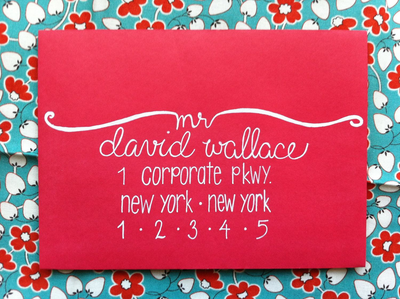 Envelope Addressing / Hand Lettered Envelope / Modern Calligraphy ...
