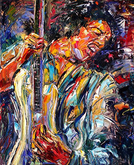 Arts Live Song Room: Daily Painters Abstract Gallery: Abstract Musician