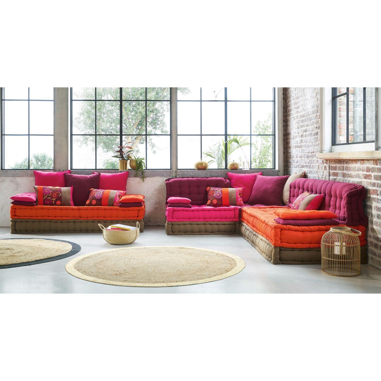 Dai un'occhiata ai nostri mobili e oggetti decorativi e fai i. Divanetto Multicolore In Cotone 2 3 Posti Maisons Du Monde Floor Seating Living Room Cheap Home Decor Home Decor
