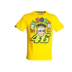 Shirt Valentino Rossi The Doctor Official Merchandise Motogp Tes