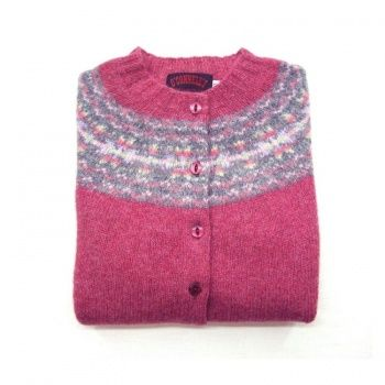 Womens Scottish Shetland Wool Fair Isle Cardigan Sweater - Cottage ...