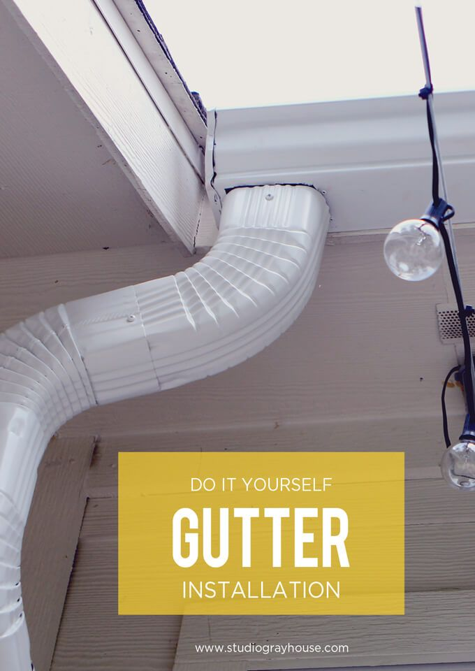 DIY Gutter Installation   Pinterest   Grey houses, House and Backyard