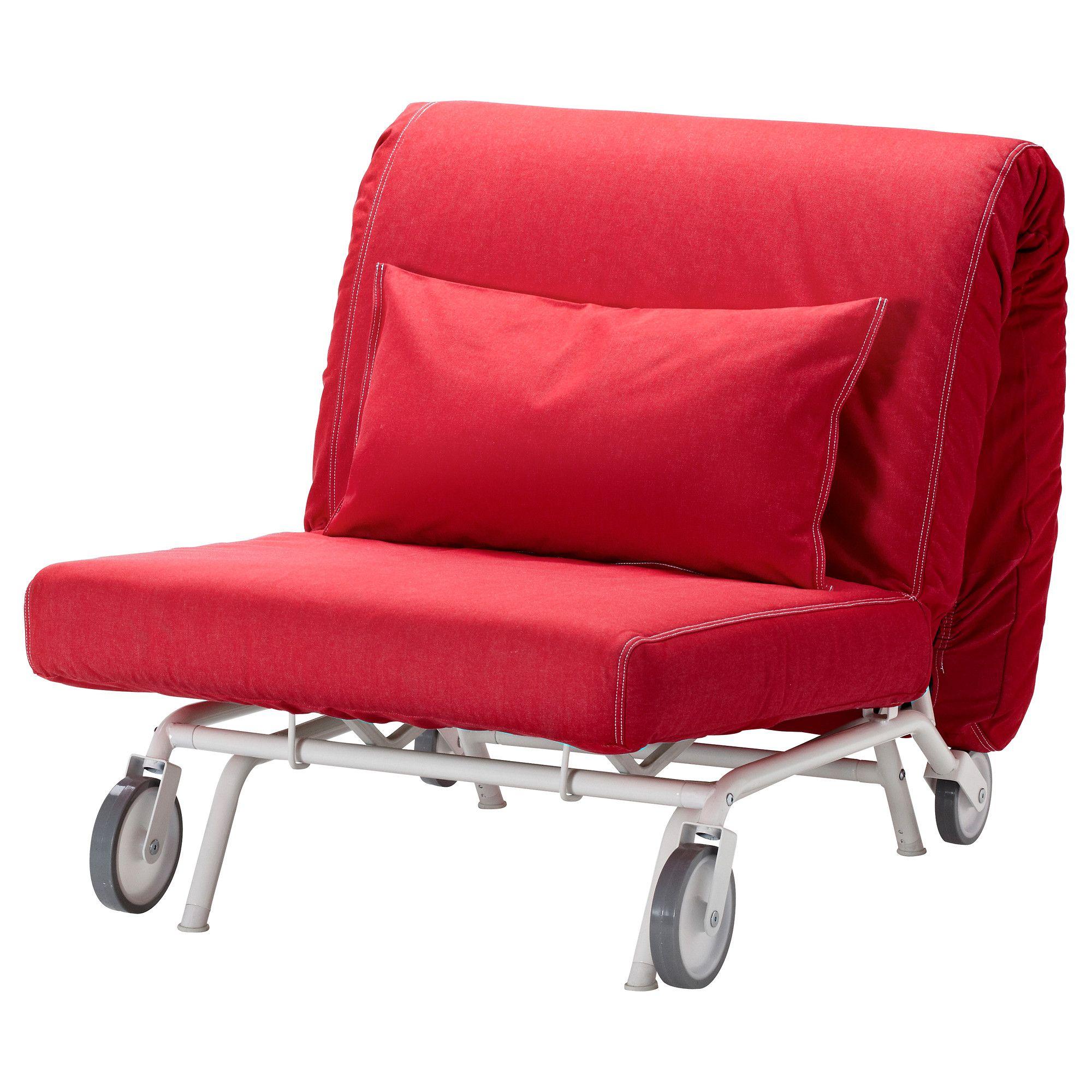 ikea ps lÖvÅs fauteuil-lit - vansta rouge - ikea | meubles a