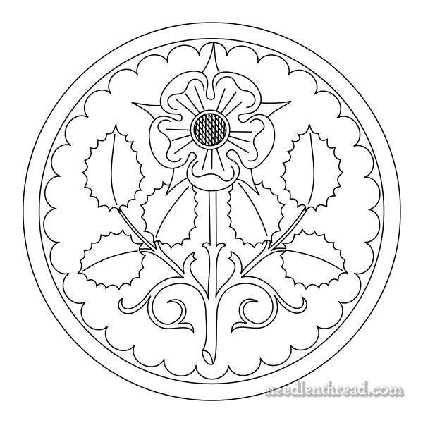 Rose Rondelle Free Hand Embroidery Pattern Hand Embroidery