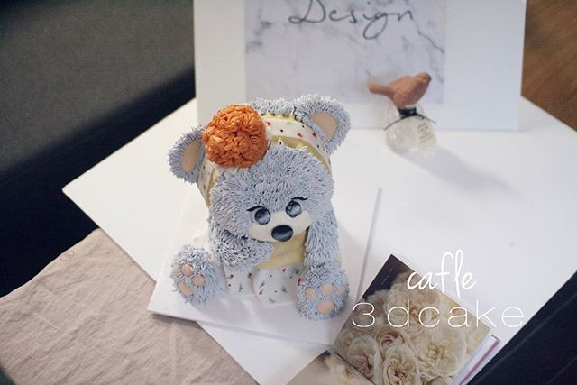 3D cake class  사랑스런 곰팅이 귀염 폭발 ♡  What a lovely bear. Being remarkable cute ♡…