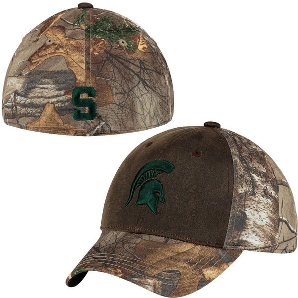 Michigan State Spartans Top of the World Youth Habitat Realtree 1Fit Flex  Hat - Camo - 4360cb792