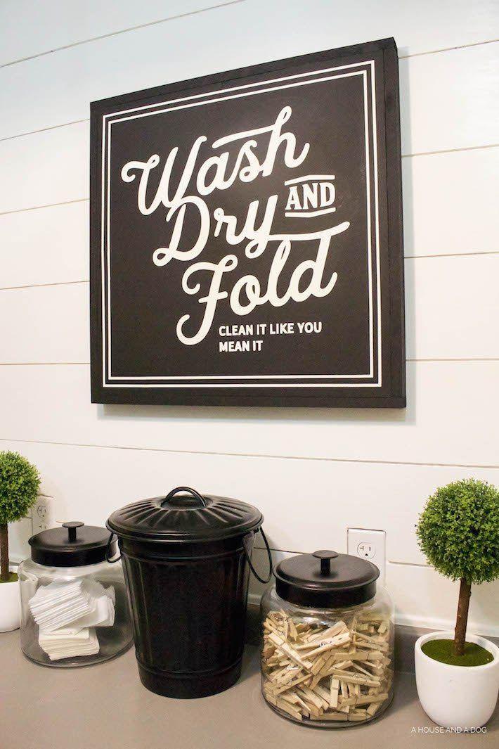 Photo of Laundry Room Update + New Sign – Designed Simple #laundrysigns New Laundry Sign …