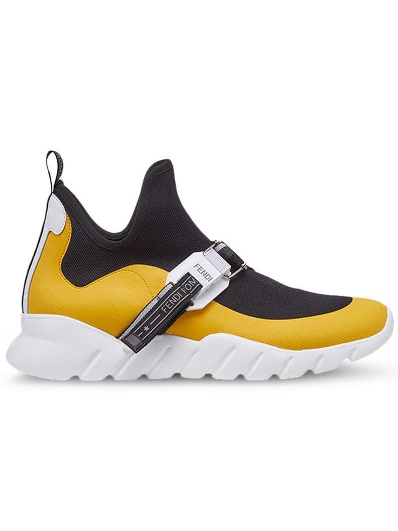 8659121eda Fendi Buckle Sneakers - Farfetch
