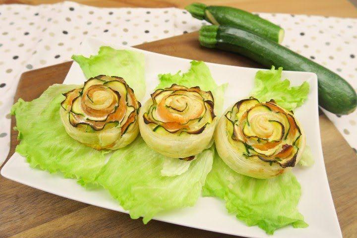 Rose di zucchine e salmone: l'idea saporita e sfiziosa! - YouTube