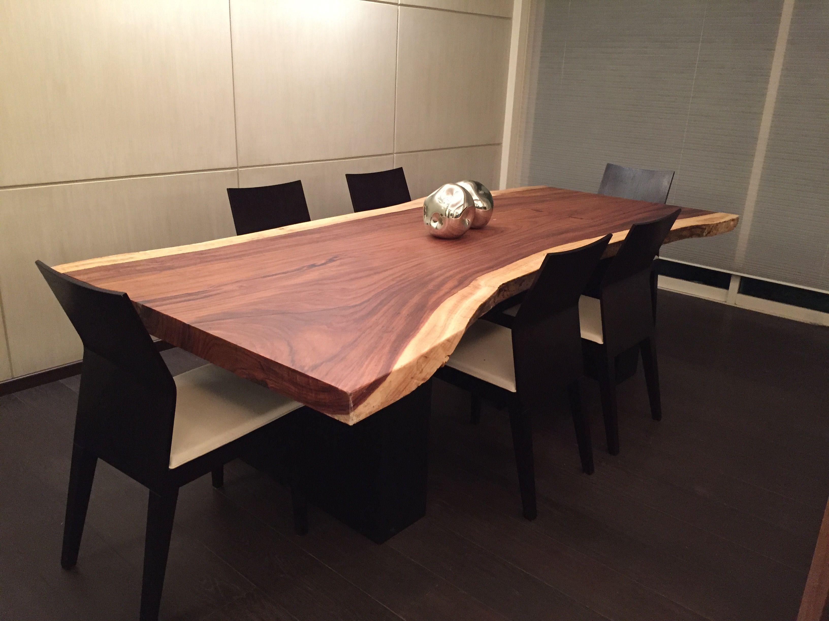 Mesa en madera de parota muebles pinterest madera for Mesas de troncos de arboles