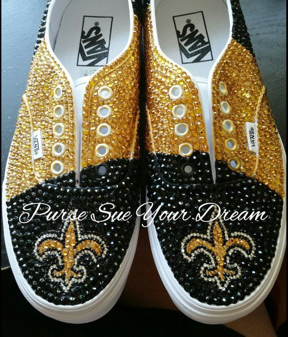 a527c3b08b7f7 Custom Swarovski Crystal Rhinestone New Orleans Saints Inspired ...