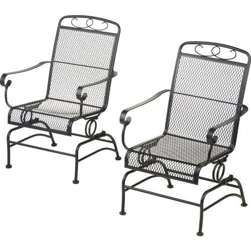 Steel Mesh Spring Rocking Chairs Set Of 2 Mosaic Http Www