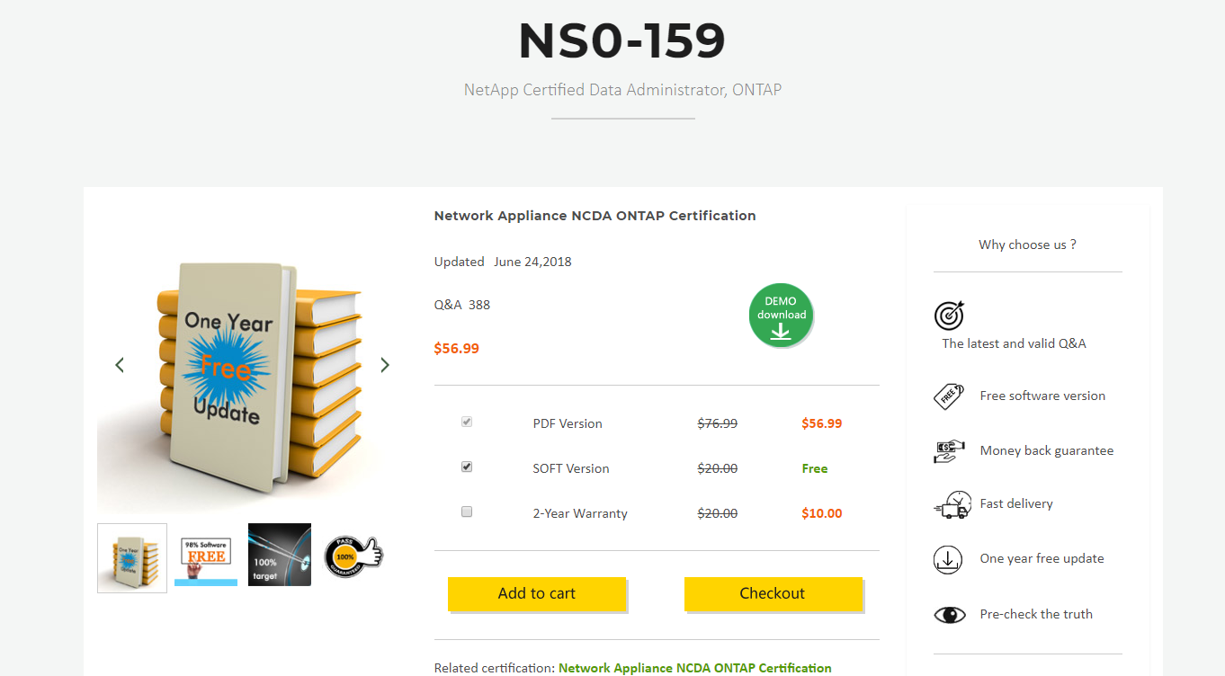 Netapp Certified Data Administrator Ontap Ns0 159 Exam Dumps Are