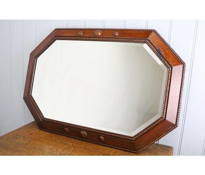 Octagonal Oak Framed Wall Mirror Circa 1930 | Antique Mirrors ...