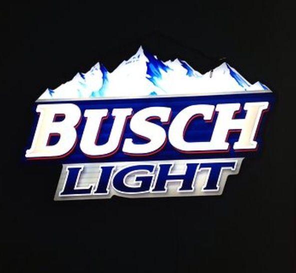 Busch Light sign   Lighted bar signs, Bar signs, Neon signs