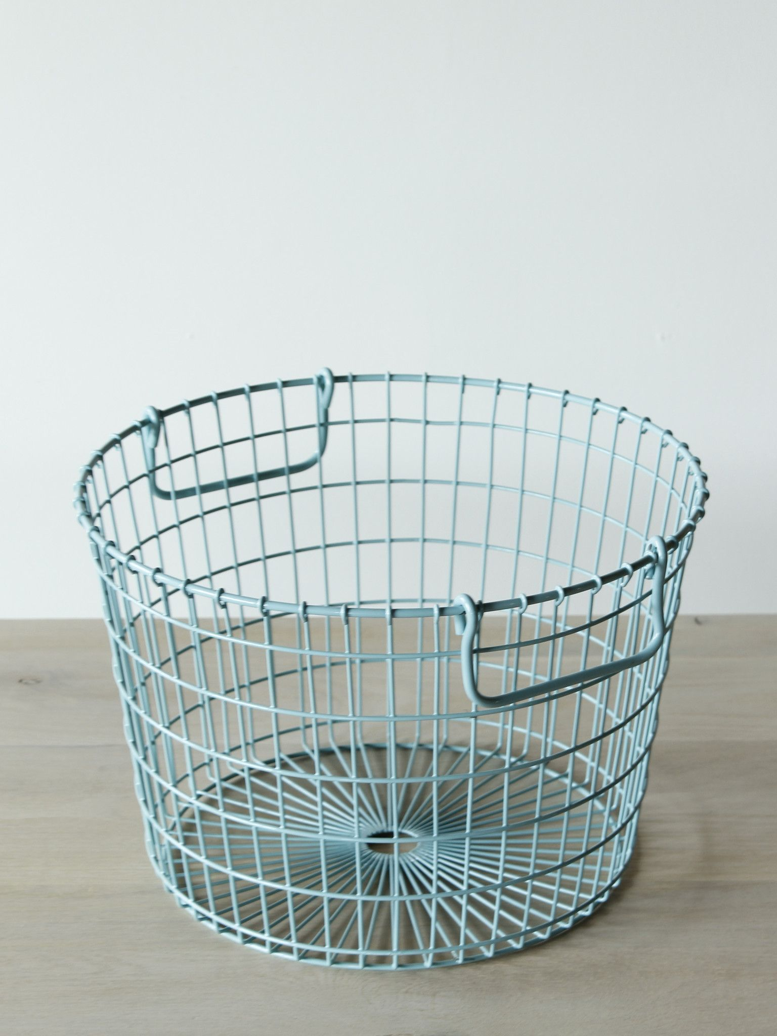 Wire Potato Basket -Blue | Lights, Wire basket and Mason jar kitchen