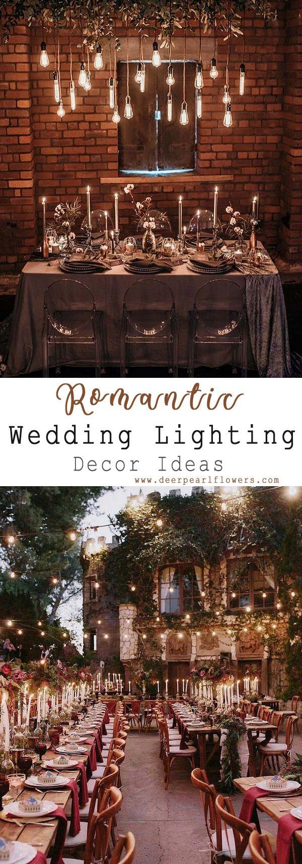 Wedding light decoration ideas  Top  Wedding Lighting Ideas You Can Steal  Wedding ideas