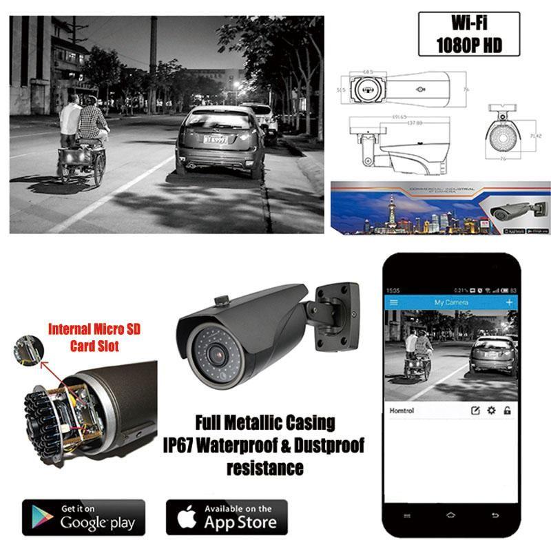 Cctv Ap Hotspot Wifi Bullet Ip Camera 1080p 2 Mega Pixel With Digital Zoom Smart Home Security Surveillance Waterproof Camera Outdoor Security Camera Ip Camera Best Security Cameras