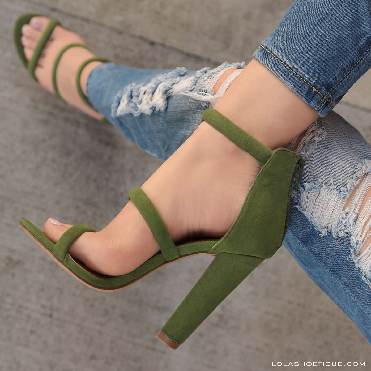 efeb6ff460e On The Line  lolashoetique  heels  strappy  new  olive  green  sexy  chic   stylish  style  fashion  fashionable  spring  summer  casual  ootd  sotd    ...