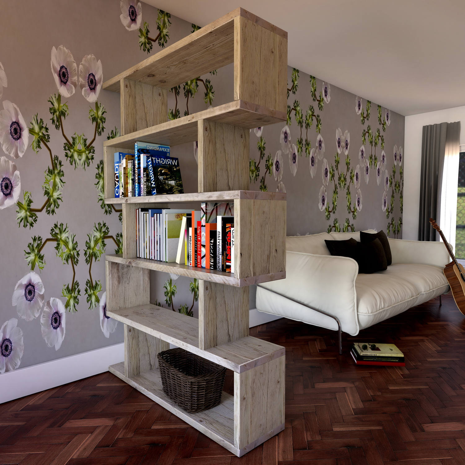 Wooden Room Divider And/Or Wall Shelving Wooden room