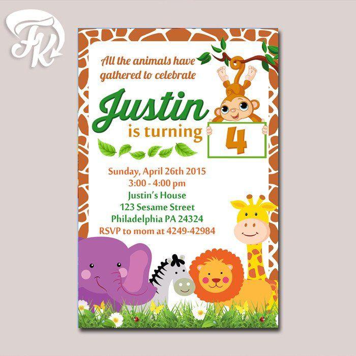 Safari zoo animal planet birthday party card digital invitation kid safari zoo animal planet birthday party card digital invitation kid birthday stopboris Gallery
