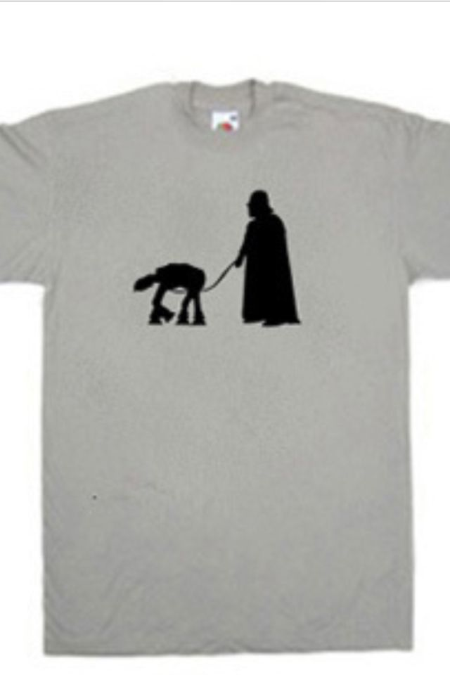 Darth Vader walking his dog