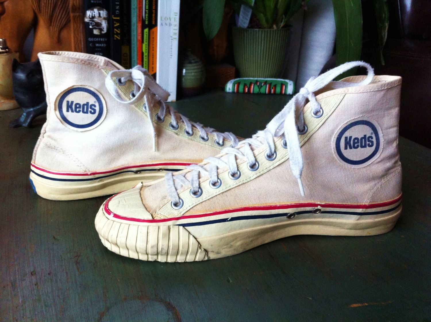 95e54452b104 Wonderful Vintage 50 s Canvas Pro Keds High Tops Basketball Tennis Shoes  Made in…