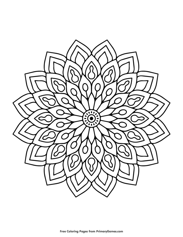 flower coloring page free printable