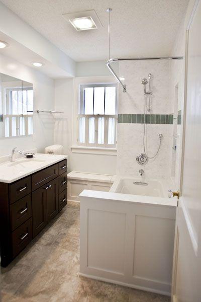 South Minneapolis Bathroom Remodel Designer: Alyssa Oleinik Castle Building  U0026 Remodeling Http://