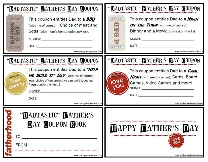 FatherS Day Crafts Simple  Sweet  Father Coupons And Free