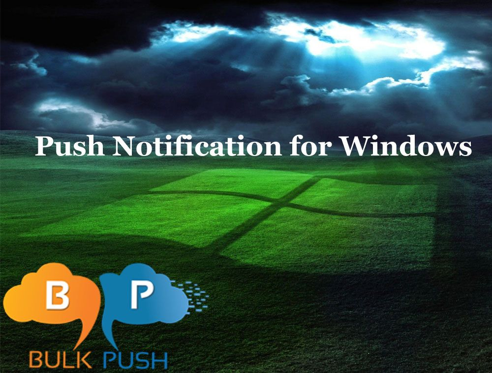 You have to authenticate your application with the #Windows #Push #Notification Service according to the Microsoft Dev Center guide here at #BulkPush