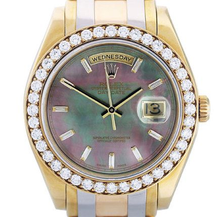 Rolex Tridor Masterpiece 18948 Tahitian Pearl Dial Watch