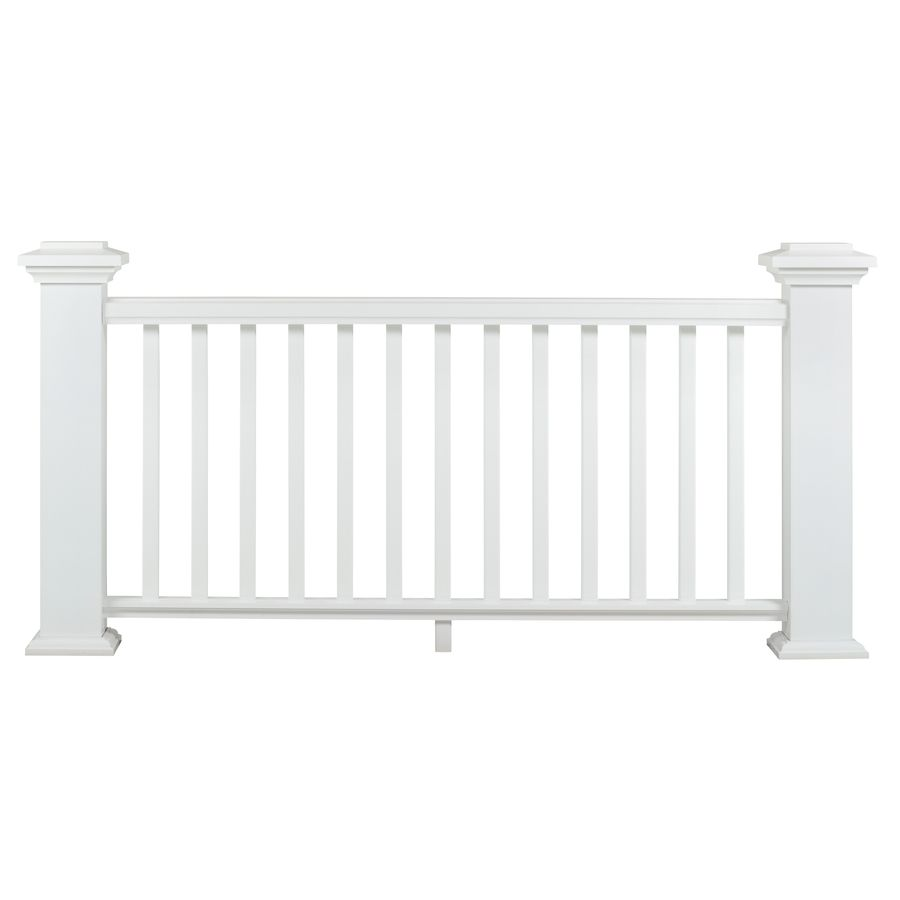 Azek Assembled 10 Ft X 3 Ft Reserve Rail White Composite Lowes Com In 2020 Composite Decking Wood Deck Railing Timbertech