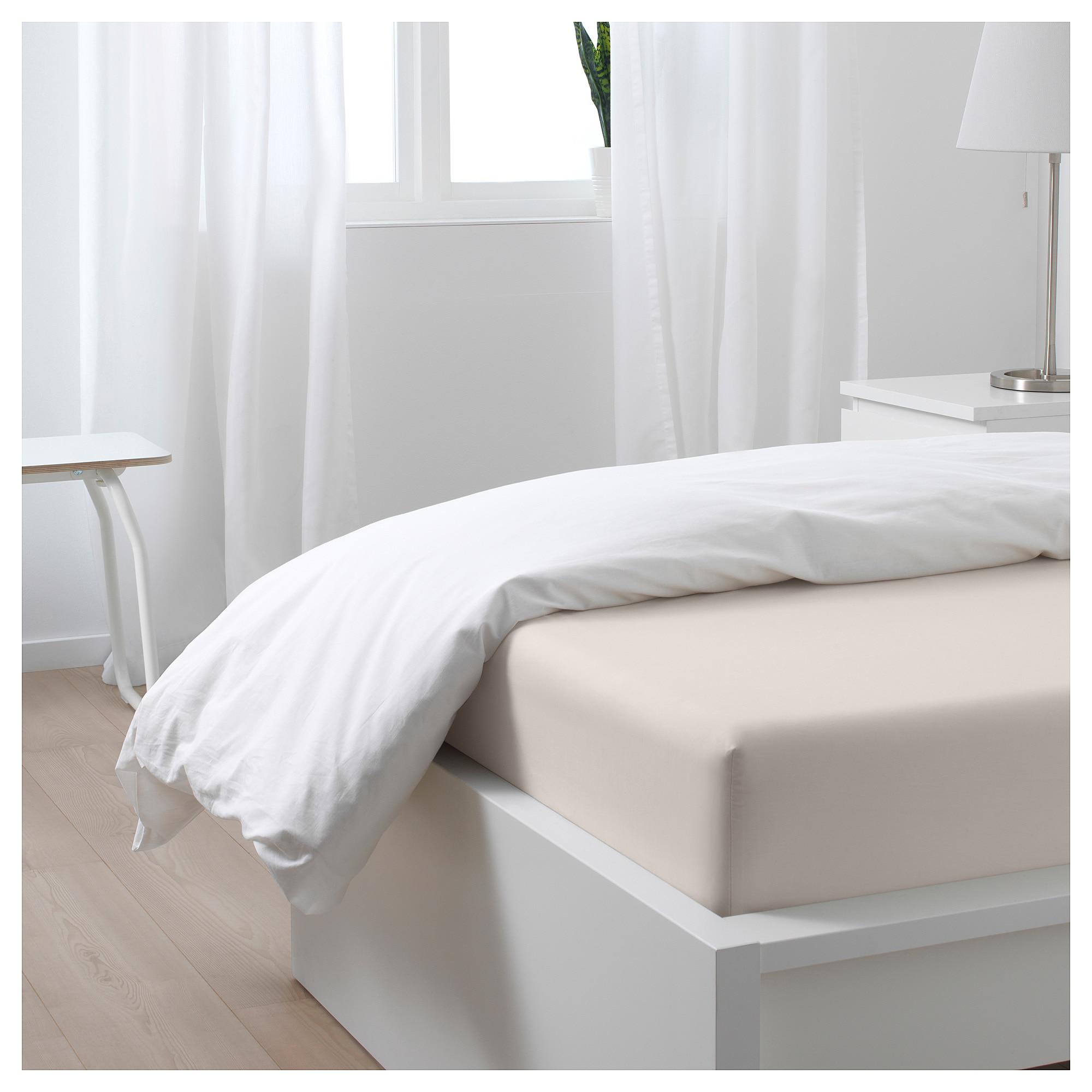 Somntuta Spannbettlaken Hellbeige Ikea Osterreich