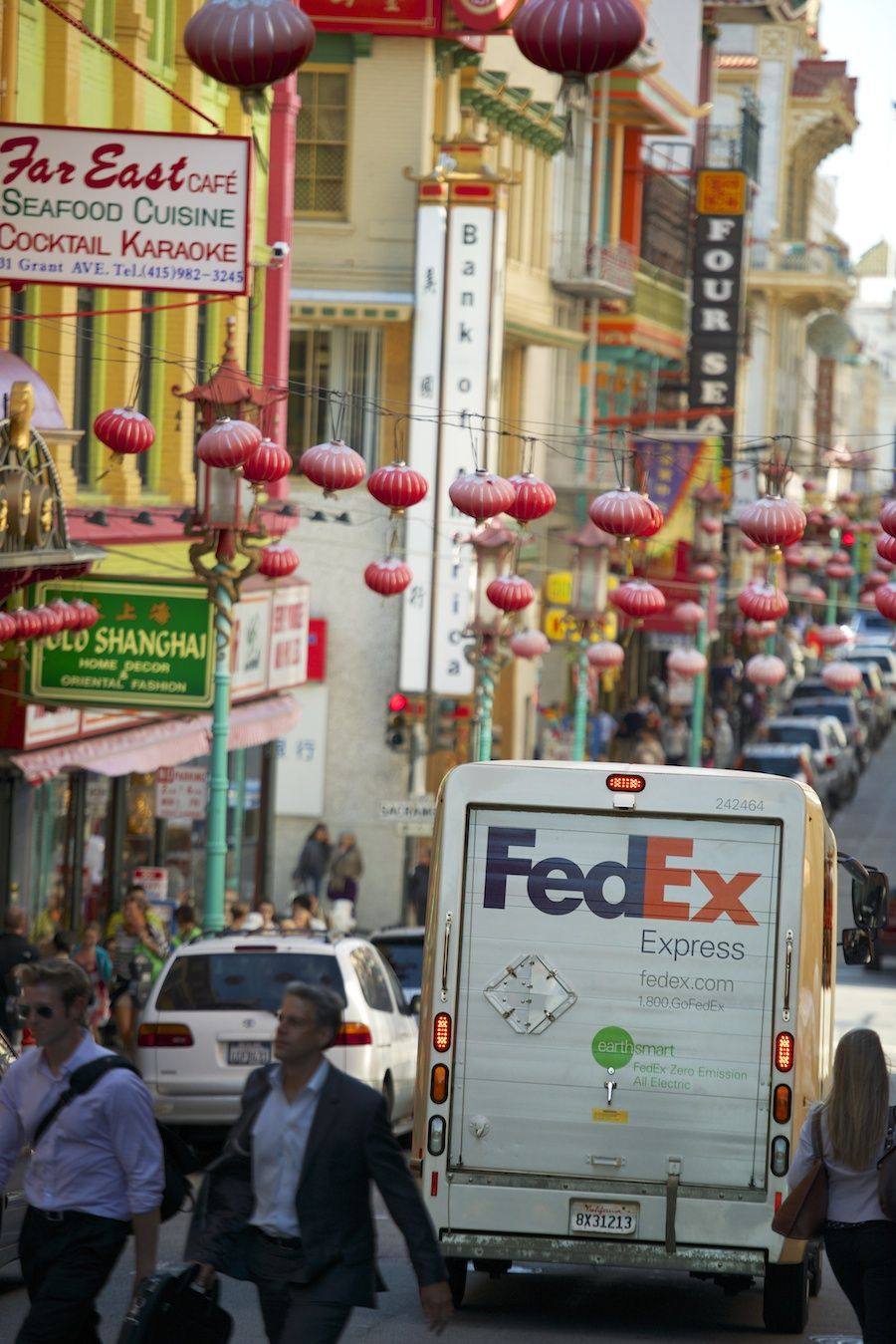 Colorful Chinatown in San Francisco, CA. Logistics