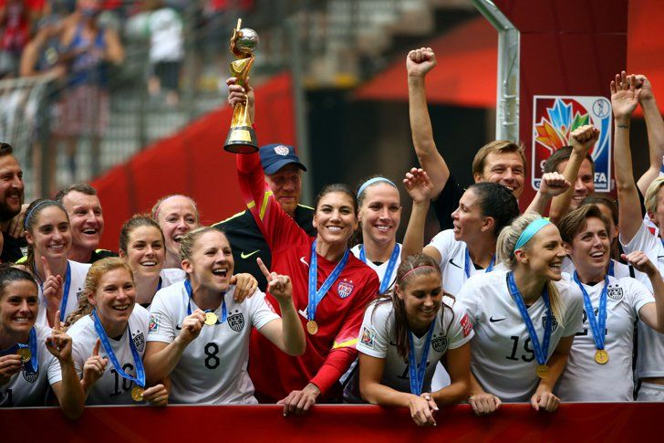 This Is The Cutest Picture Of The Usa Women S Soccer Team World Cup Celebration Usa Soccer Women Fifa Women S World Cup Women S Soccer Team