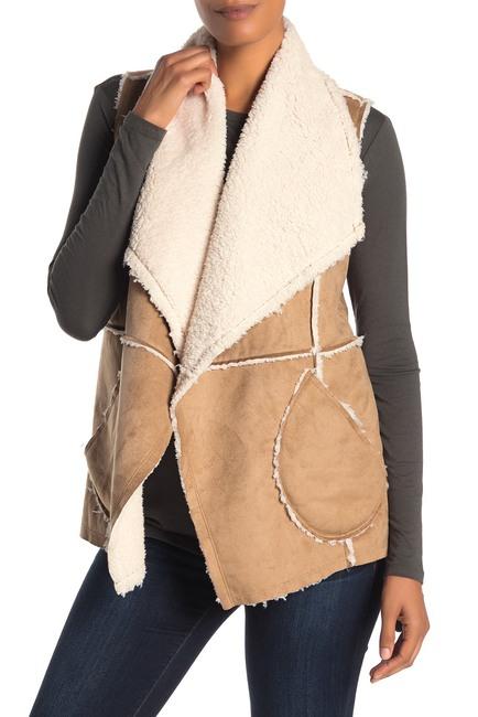 Caslon | Reversible Faux Shearling Vest (Regular & Petite #nordstromrack