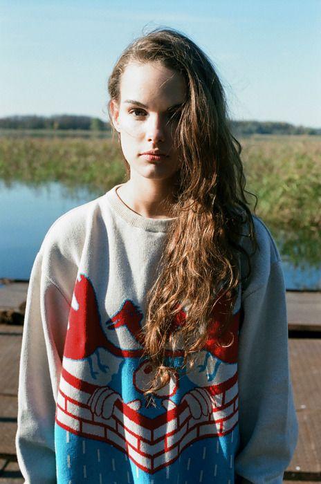 cartoon-ish prints sweater | Fashion Portrait Photography | ~F.