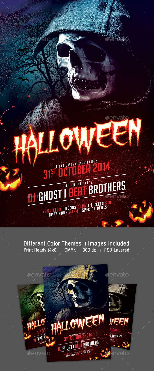 Halloween Flyer Template PSD | Buy and Download: http://graphicriver ...