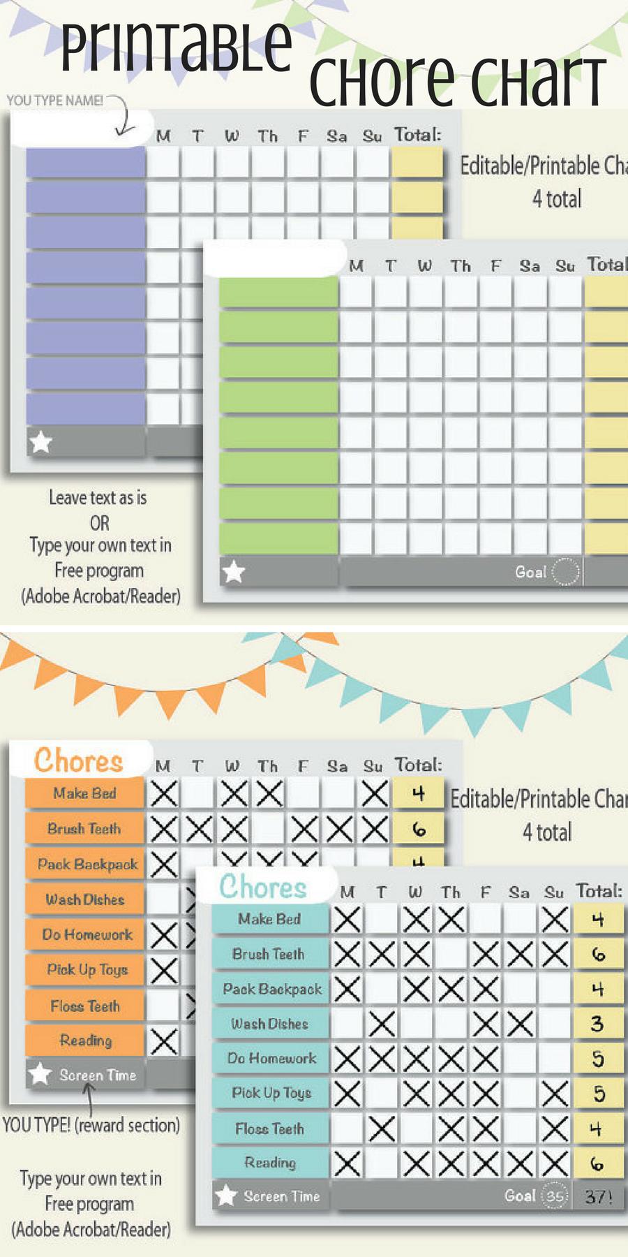 Reward Chore Chart