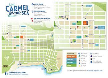 Carmel Downtown Map 2018 California in 2018 Pinterest
