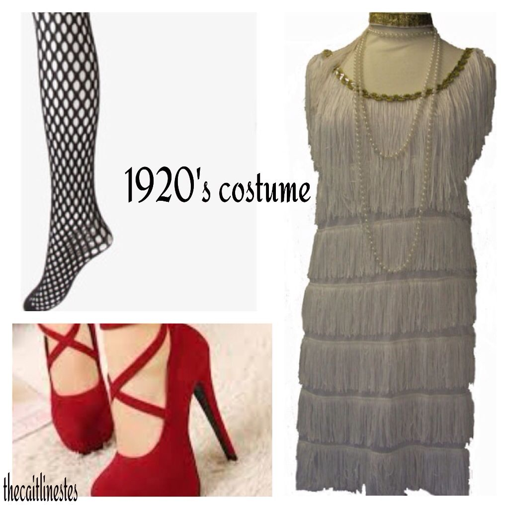 This is a cute blast from the past DIY costume! The heels are just for show so I wouldn't wear the heels if you were going trick or treating... I would wear some sort of red flat. Pearls would go great with this too!