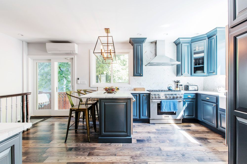 A Modern Colonial Kitchen Renovation In Brooklyn New York In 2020 Before After Kitchen Kitchen Renovation Home