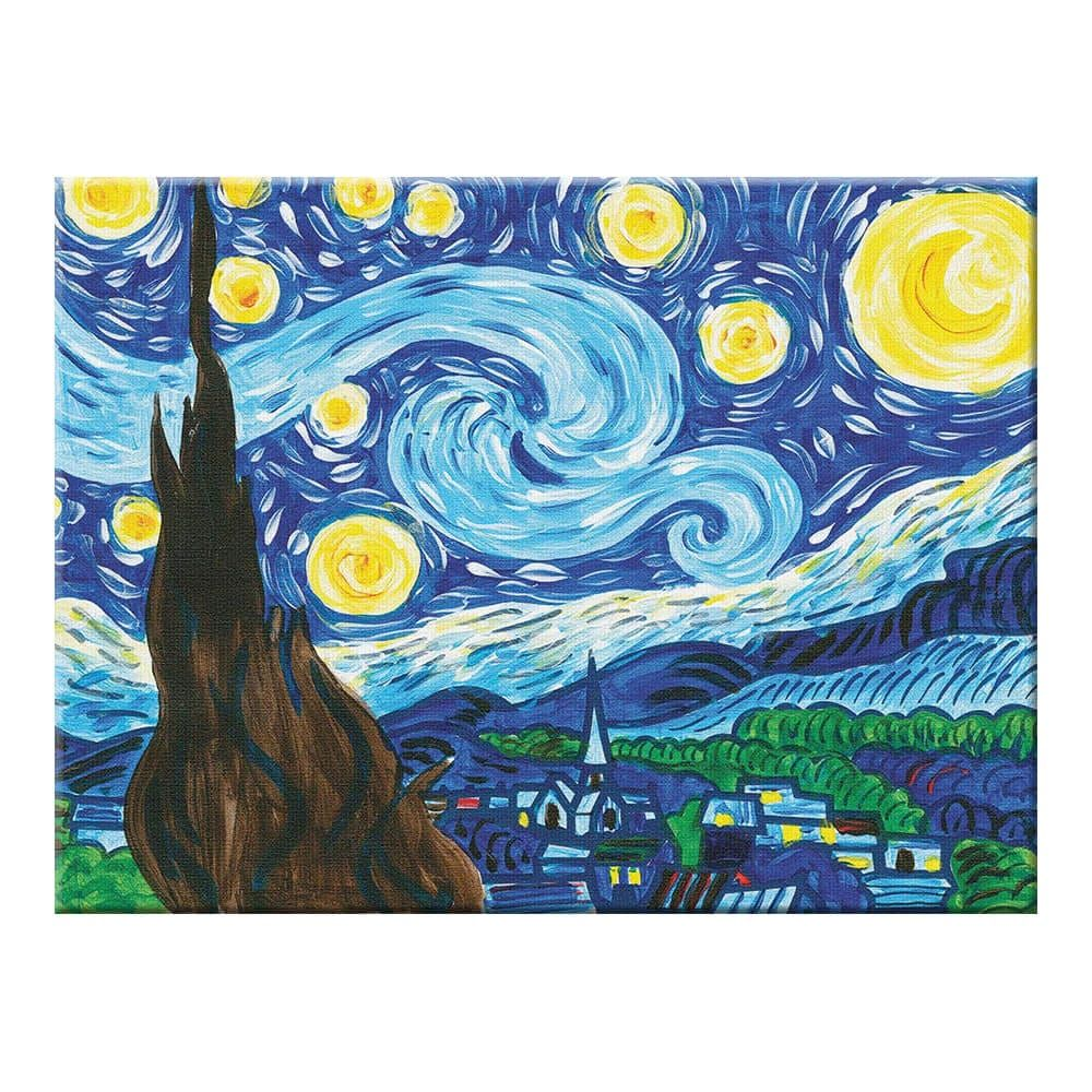 Paint by number museum series the starry night with
