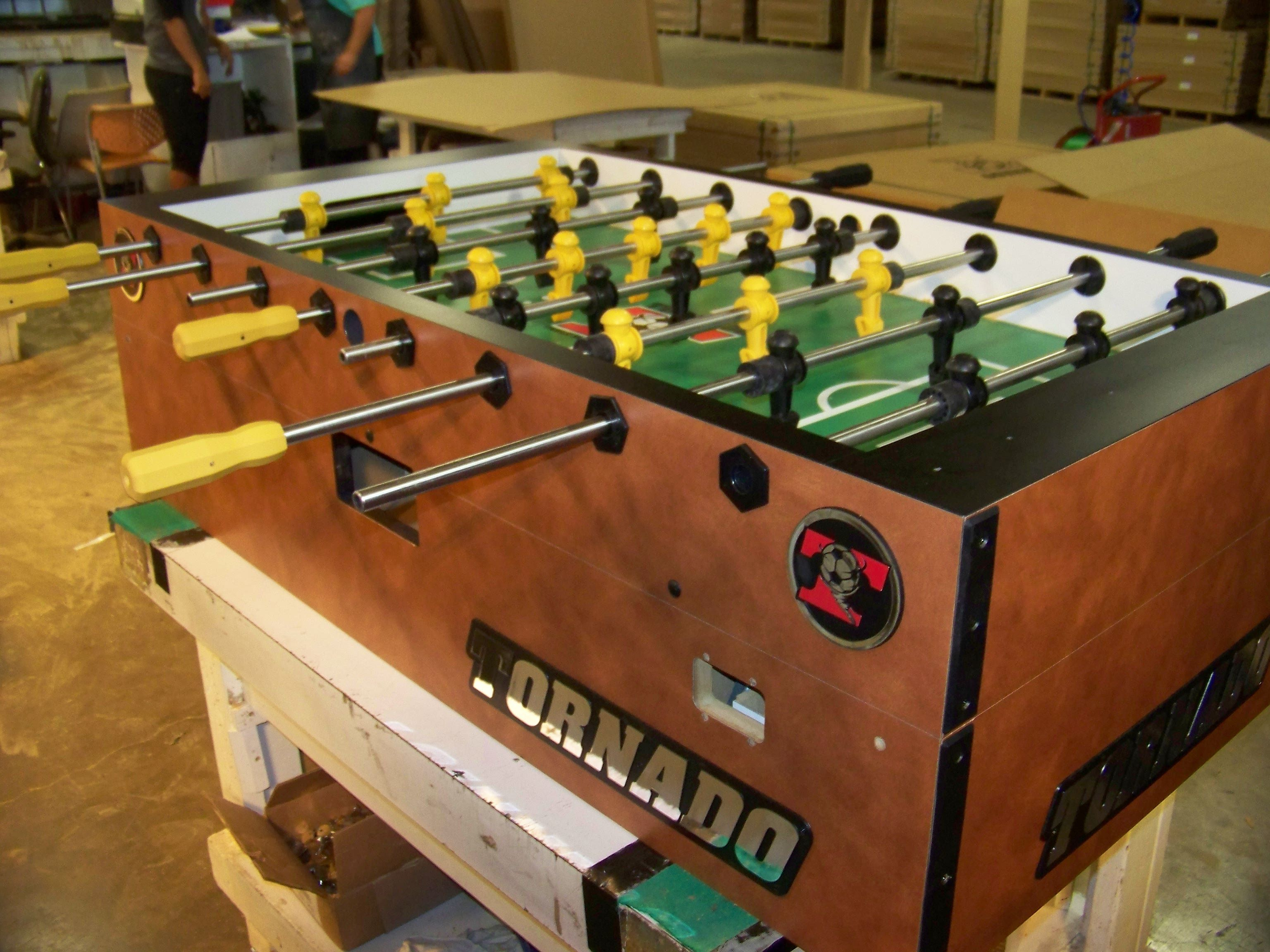 Suedelaminate finish Coin Foosball built for IFP Pro Tour