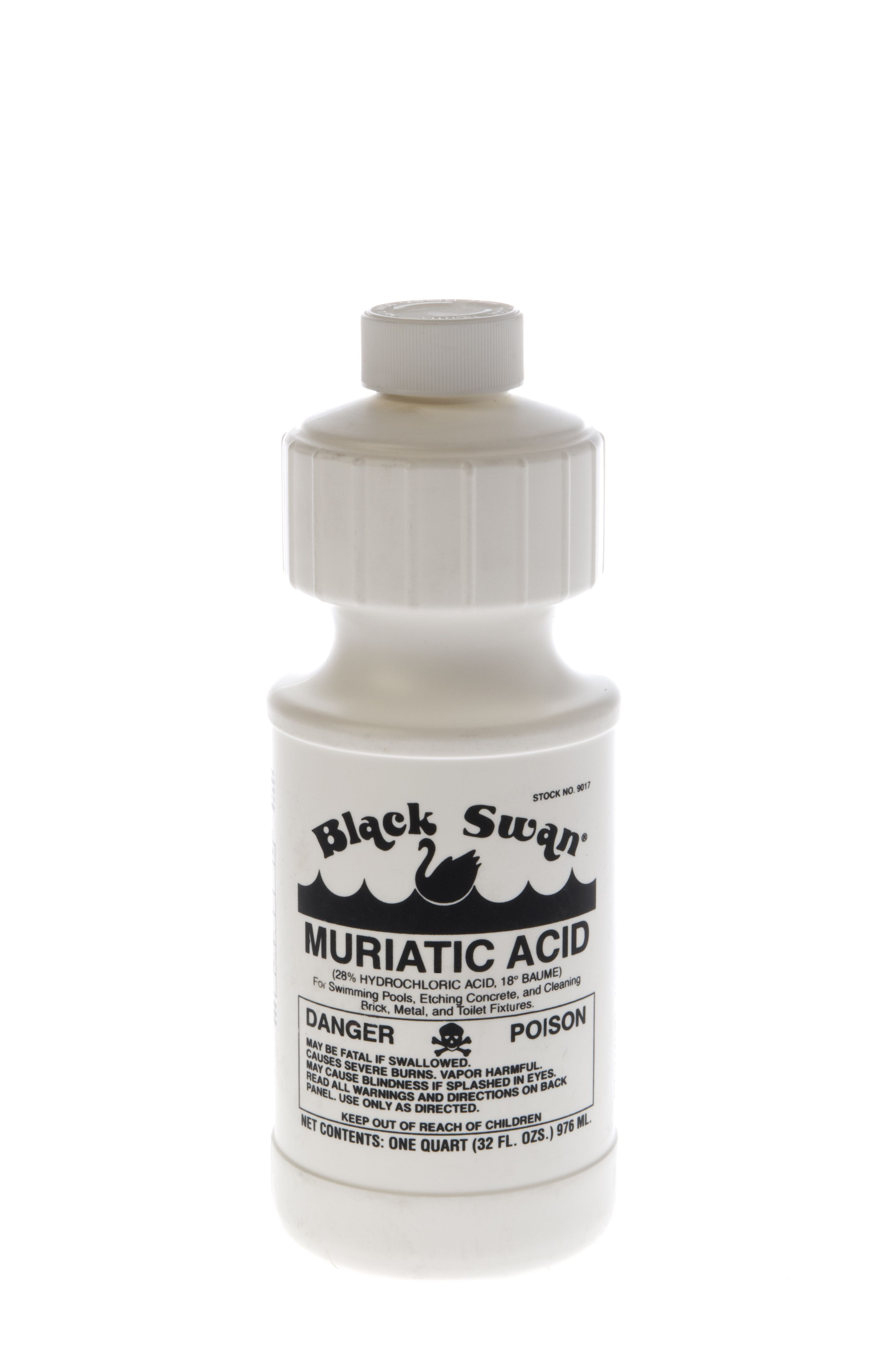 Black Swan's 18° Muriatic Acid is 28% hydrochloric acid, 18° Baume